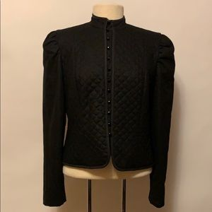 arthur Jackets & Coats - Vintage 100% Wool Black Quilted Button Jacket
